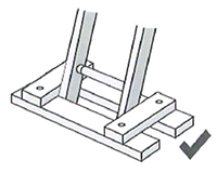 Secure the base of your ladder