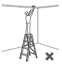 Top rung of ladder safety