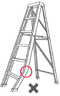 Do not use a bent ladder