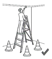 Ladders and barriers for safety